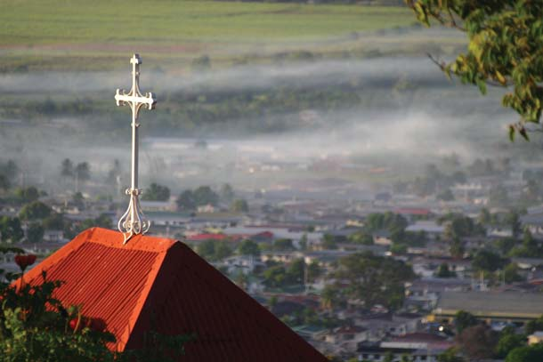The rooftop of the Presbytery at Mount St. Benedict, overlooking St. Augustine. Photographer: Skene Howie