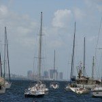 Yachts moored off the coast of Chaguaramas. Photographer: Mirissa De Four
