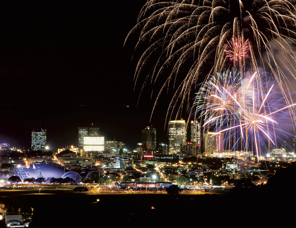 50th anniversay fireworks at the Queen's Park Savannah in Trinidad. Photo: Chris Anderson