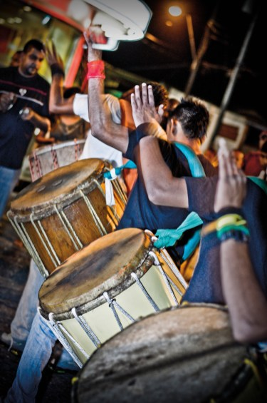 Drums at Hosay in Trinidad. Photo: Stephen Jay Photography