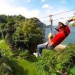 Ziplining in Chaguaramas. Courtesy Zipitt