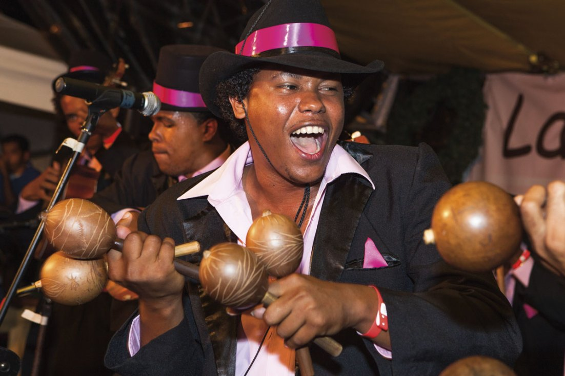 The maracas or chac-chacs are one of the key instruments in parang music. Photo courtesy the TDC