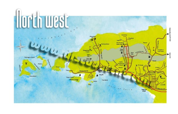 Chaguaramas and Northwest Trinidad Map. Copyright MEP Publishers 2017