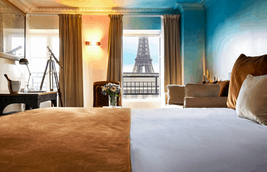 The Best Hotels With A View Of The Eiffel Tower With A Map