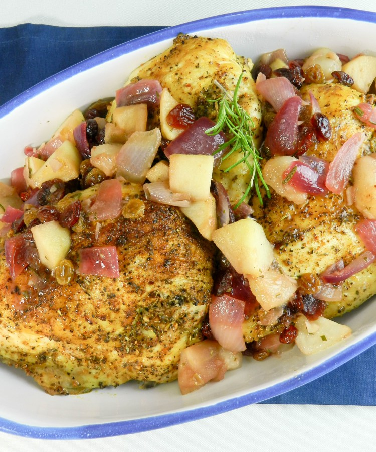 Roasted Chicken Breasts with Fall Fruit