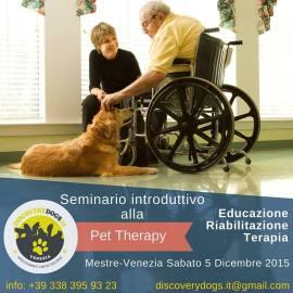 Seminario Introduttivo Pet Therapy