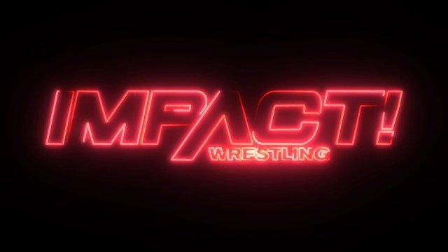 Impact neon logo red