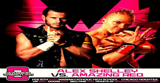 Amazing Red vs Alex Shelley Added To Warrior 8 | News