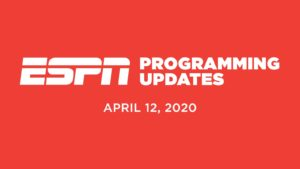 ESPN Programming Schedule For April 12th