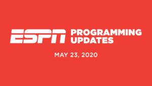 ESPN Programming Schedule | Saturday May 23