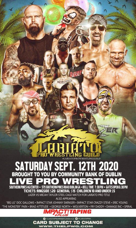 Lariato Pro Wrestling | IMPACT Plus Taping