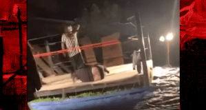 Backyard wrestler breaks leg