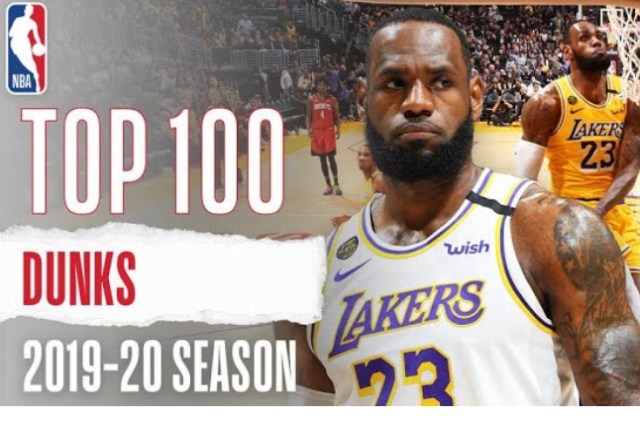 NBA Top 100 Slam Dunks from 2019-2020 Season Posted