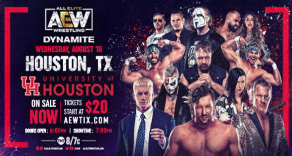 AEW Dynamite in Houston on August 18 2021 Preview & Ticket Info