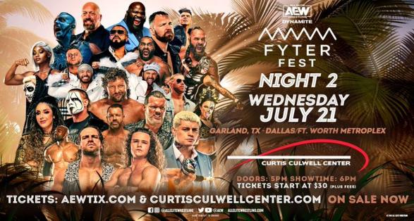 Watch AEW Dynamite Fyter Fest 2021 Night 2 7/21/2021