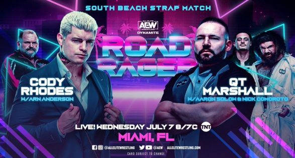 """South Beach Strap Match set for AEW """"Road Rager"""""""