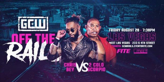 "2 Cold Scorpio vs Chris Bey set for GCW ""Off The Rails"""