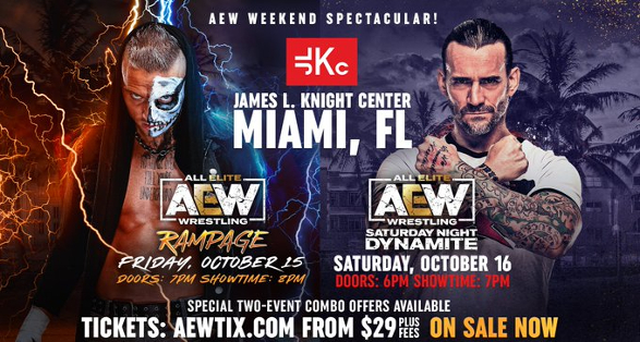 AEW Rampage in Miami on October 15 2021 Preview | All Elite Wrestling