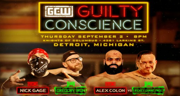 """GCW Detroit """"Guilty Conscience"""" Results from September 2 2021"""