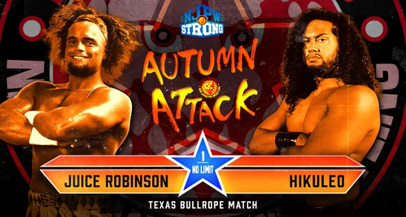 """Texas Bullrope Match added to NJPW """"Autumn Attack""""   Updated Cards"""