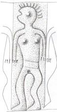 Fg 1a: particolare  (figure femminili a destra della lamina)  (dis. Gianni Bassi)