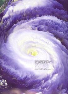 Uragano visto dal satellite