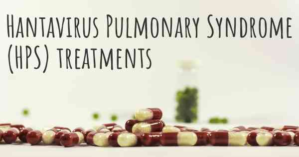 ▷ What are the best treatments for Hantavirus Pulmonary Syndrome ...