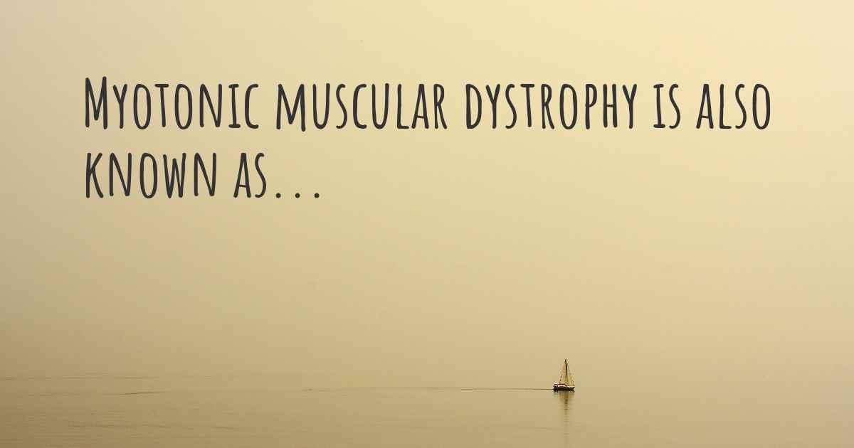 Myotonic muscular dystrophy synonyms