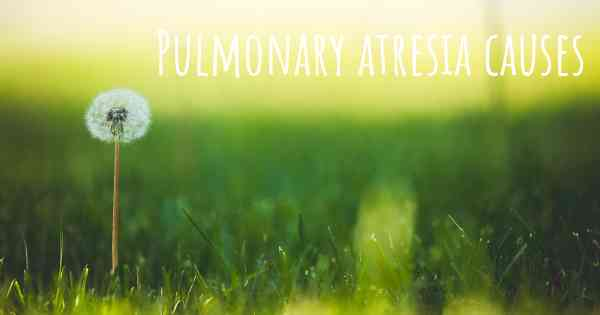 Which are the causes of Pulmonary atresia?