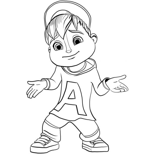 disegni da colorare di alvin and the chipmunks