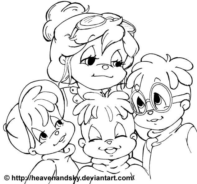 22 Disegni Alvin Superstar and the chipmunks da colorare