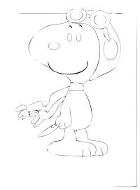 44 Disegni Snoopy Da Colorare
