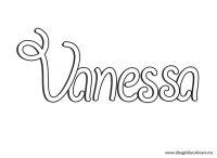 Nomi da stampare  Vanessa | Disegni da colorare
