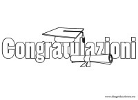 Laurea  Congratulazioni | Disegni da colorare