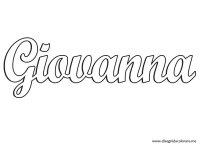 Nomi da colorare  Giovanna | Disegni da colorare