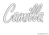 Nomi  Camilla | Disegni da colorare