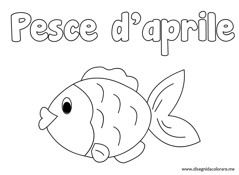 Pesce d 39 aprile disegno da colorare for Disegni da colorare pesce d aprile