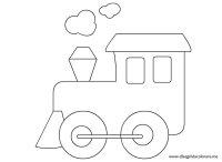 Disegno locomotiva | Disegni da colorare
