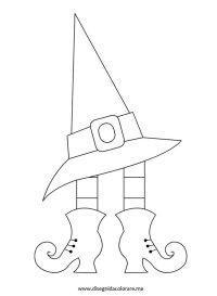 Scarpe e cappello strega | Disegni da colorare
