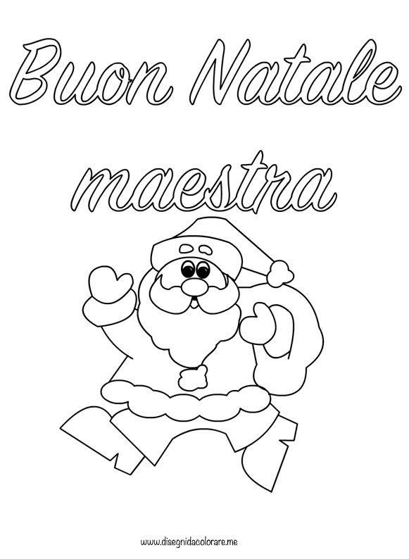 Scritta Buon Natale maestra  Disegni da colorare