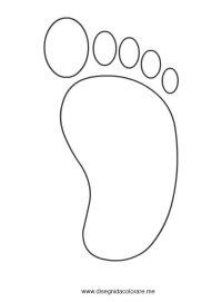 Sagoma piede | Disegni da colorare