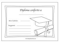 Modello diploma fine anno scolastico | Disegni da colorare