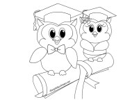 Disegni di fine anno scuola  Gufi con tocco | Disegni da ...
