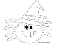 Disegni Halloween da colorare  Ragno