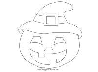 Zucca con cappello Halloween | Disegni da colorare