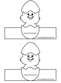 Porta uova con pulcino da stampare