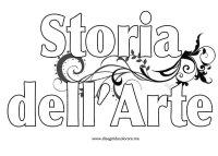 Copertina Storia dell'Arte da colorare | Disegni da colorare