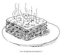 Disegno lasagne alimenti da colorare