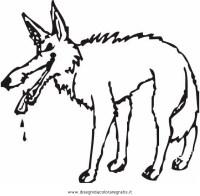 Disegno lupo 02 animali da colorare.