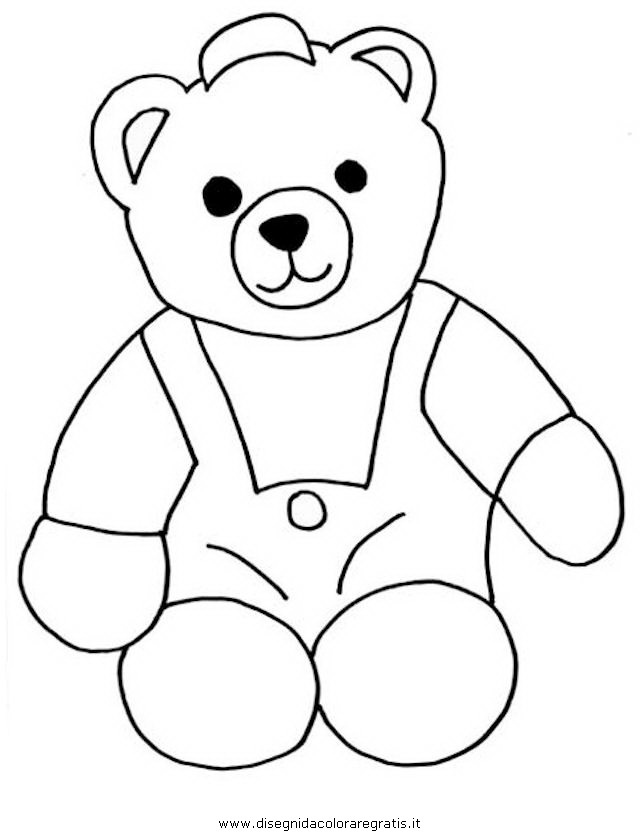 Disegno Teddy Bear 01 Animali Da Colorare